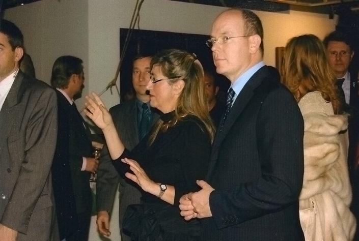 Bianca Tosatti con Alberto di Monaco