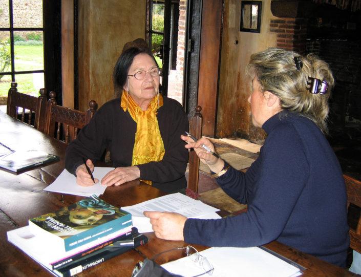 Bianca Tosatti con Caroline Bourbonnais.